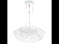 Lampa suspendata Piastre,alba,1x18w,cablu rosu