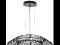 Lampa suspendata Piastre,neagra,1x18w,cablu negru