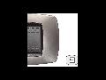 Placa ornament technopolimer, 2 module, bronz mat