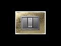 Placa Vitra sticla frunza de aur, 3 module, mod comanda argintiu