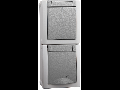 Priza schuko&comutator IP54 Pacific Panasonic gri