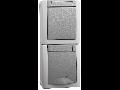 Priza schuko&intrerupator IP54 Pacific Panasonic gri