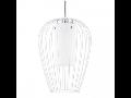 Lampa suspendata VENCINO,1x9w,alb,LED