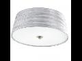 Plafoniera FONSEA,2x60w,argintiu