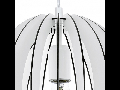 Lampa suspendata Cossano,1x60w,E27,D300,alb
