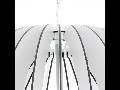 Lampa suspendata Cossano,1x60w,E27,D700,alb