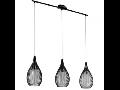 Lampa suspendata Razoni,3x60w,E27,negru