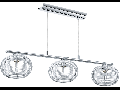 Lampa suspendata Hanu,3x33w,G9,argintiu
