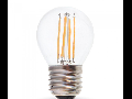 Bec LED Filament,4 w,E27,lumina rece,bulb sticla G45