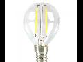Bec LED Filament,2 w,E14,lumina calda,bulb sticla P45