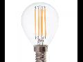 Bec LED Filament,4 w,E14,lumina alba,bulb sticla P45