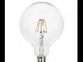 Bec LED Filament,6 w,E27,lumina calda,bulb sticla G125