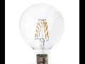Bec LED Filament,10 w,E27,lumina calda,bulb sticla G125