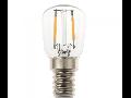 Bec LED Filament,2 w,E14,lumina rece,bulb sticla ST26