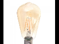 Bec LED Filament,6 w,E27,lumina calda,bulb sticla ST64,pelicula chihlimbar