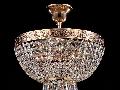 Candelabru Diamant crystal Palace 4 becuri dulie normala E27 230V Diam 30cm H35cm Aur
