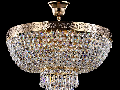 Candelabru Diamant Crystal Palace 6 becuri dulie normala E27 230V Diam. 50cm, H45 cm,Auriu