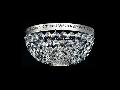 Aplica Diamant Crystal Ottilia,2 x E14, 230V, D.25cm,H.13 cm,Nichel