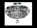 Candelabru Diamant Crystal Ottilia,3 becuri dulie E14, 230V,D.32cm, H.23 cm,Nichel
