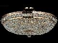 Candelabru Diamant Crystal Ottilia,12 becuri dulie E14, 230V,D.65cm, H.34 cm,Auriu