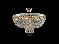 Candelabru Diamant Crystal Bella,5 becuri dulie E14, 230V,D.40cm, H.37 cm,Auriu