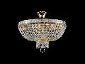 Candelabru Diamant Crystal Bella,6 becuri dulie E14, 230V,D.50cm, H.37 cm,Auriu