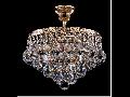 Candelabru Diamant Crystal Gala,4 becuri dulie E27, 230V,D.30cm, H.33 cm,Auriu