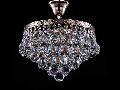 Candelabru Diamant Crystal Gala,4 becuri dulie E27, 230V,D.30cm, H.33 cm,Nichel