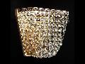 Aplica Diamant Crystal Quadrado,1 x E27, 230V, D.17cm,H.16 cm,Auriu