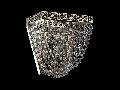 Aplica Diamant Crystal Quadrado,1 x E27, 230V, D.17cm,H.16 cm,Nichel