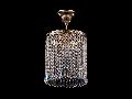 Lustra Diamant Crystal Sfera,1 bec dulie E27, 230V,D.20cm, H.31 cm,Auriu
