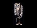 Veioza Diamant Crystal Picolla 1 bec,dulie E27,230V,Diam. 17cm ,H70cm,Auriu