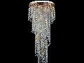 Candelabru Diamant Crystal Cascade,12 becuri dulie E14, 230V,D.42cm, H.100 cm,Auriu