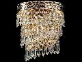 Aplica Diamant Crystal Cascade,1 x E14, 230V, D.17cm,H.20 cm,Auriu