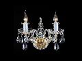 Aplica Diamant Crystal Lira,2 x E14, 230V, D.29cm,H.28 cm,Auriu