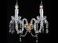 Aplica Diamant Crystal Adel,2 x E14, 230V, D.34cm,H.29 cm,Auriu