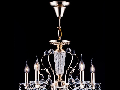 Candelabru Diamant Crystal Marlin,5 becuri dulie E14, 230V,D.54cm, H.78 cm,Auriu