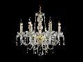 Candelabru Diamant Crystal Adel,6 becuri dulie E14, 230V,D.59cm, H.58 cm,Auriu