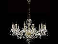 Candelabru Diamant Crystal Adel,12 becuri dulie E14, 230V,D.82cm, H.67 cm,Auriu
