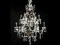 Candelabru Diamant Crystal Castle,18 becuri dulie E14, 230V,D.83cm, H.115 cm,Bronz