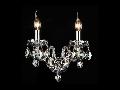 Aplica Diamant Crystal Brandy,2 x E14, 230V, D.31cm,H.21 cm,Auriu