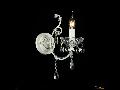 Aplica Diamant Crystal Sevilla,1 x E14, 230V, D.37cm,H.39 cm,Alb