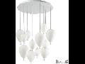 Corp de iluminat din sticla suflata si prelucrata manual sub forma de balon alb 12x40W