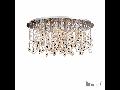 Corp de iluminat cu elemente decorative naturale sidefate si octogoane de cristal 9x40W