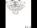 Corp de iluminat cu elemente decorative sub forma de perle din cristal 10x40W