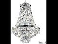 Candelabru cu margele din cristal si elemente decorative octogonale 9x40W Crom