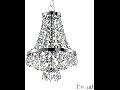 Candelabru cu margele din cristal si elemente decorative octogonale 4x40W Crom