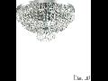 Corp de iluminat cu margele octogonale si cristale in forma de turturi 6x40W Crom