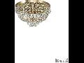 Corp de iluminat cu margele octogonale si cristale in forma de turturi 5x40W Auriu