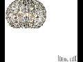 Aplica Calypso cu abajur sferic si decoratiuni de cristal 2x40W